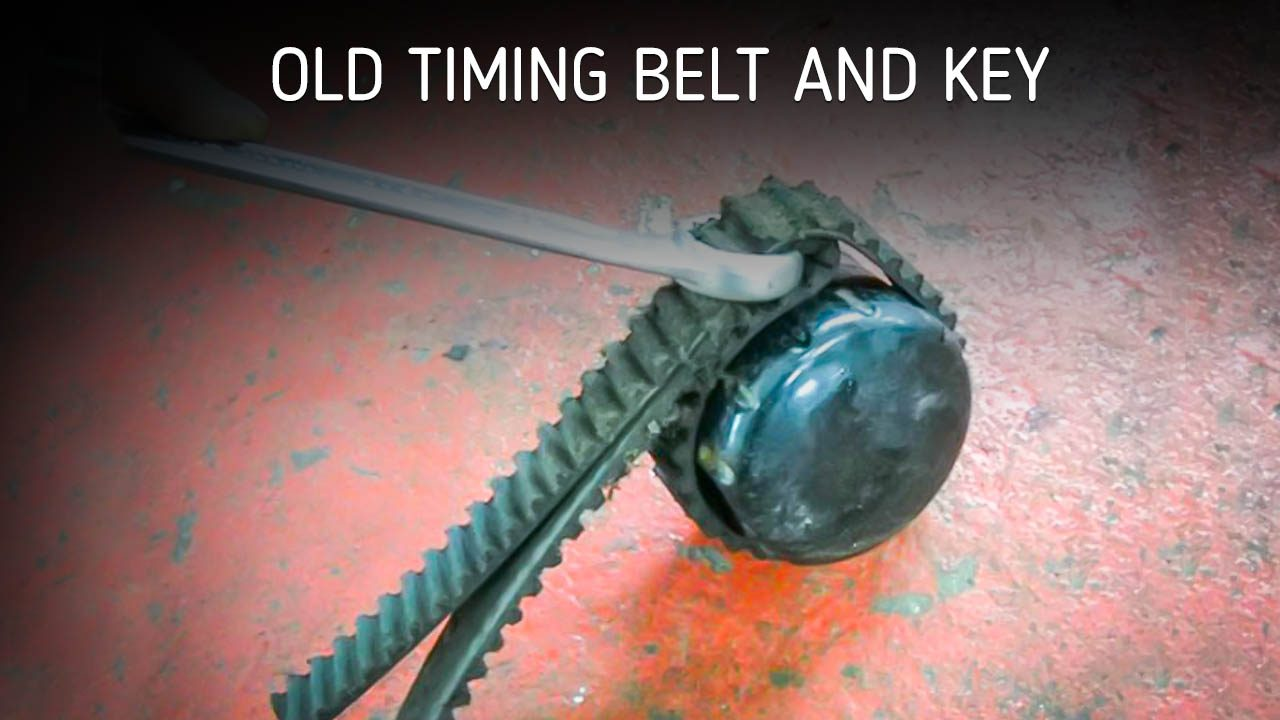 Old Timing Belt and Key